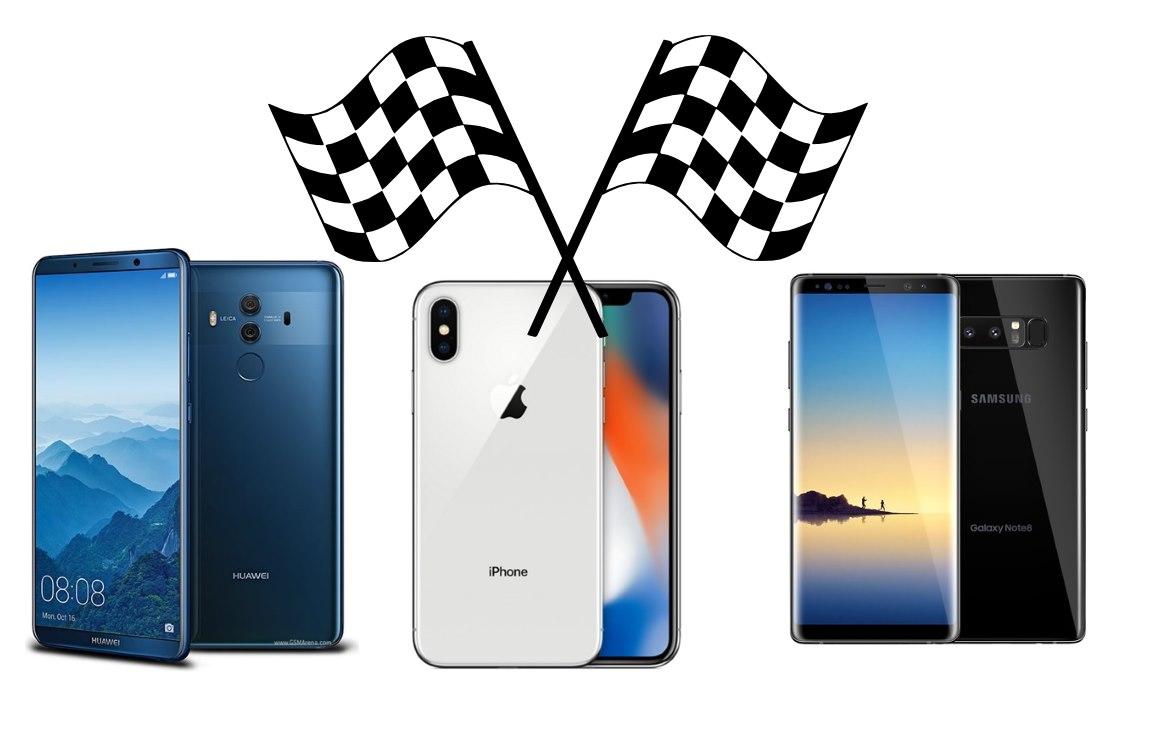 mate 10 pro vs iphone x vs galaxy note 8