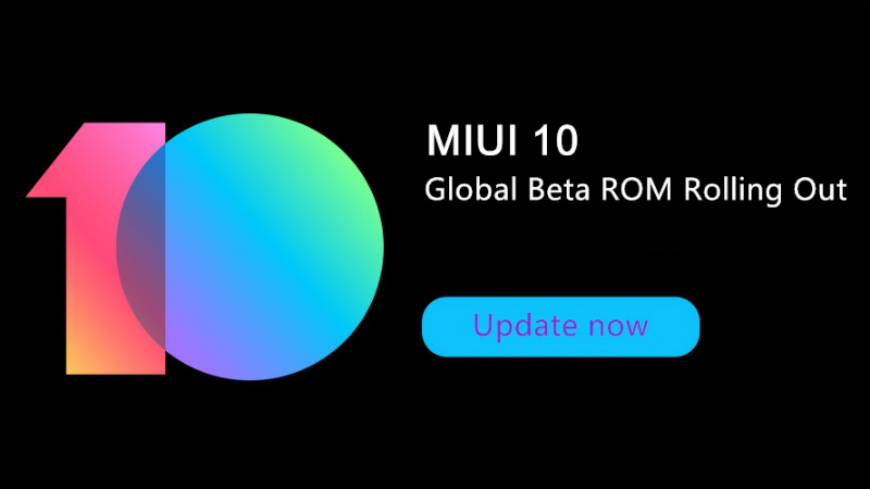 miui 10 global beta - Naslovna