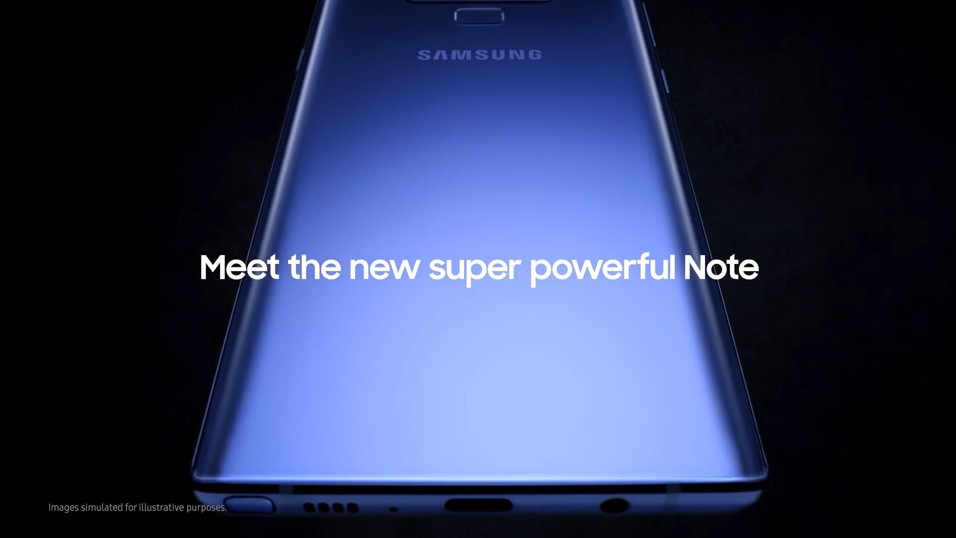 Samsung Galaxy Note 9 video - Naslovna