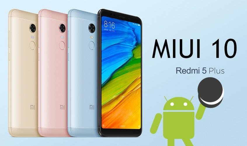 Xiaomi Redmi 5 Plus MIUI 10 nadogradnja Android Oreo - Naslovna