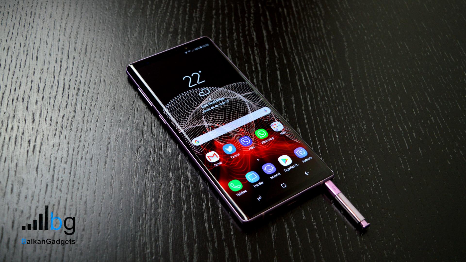Samsung Galaxy Note 9 recenzija BG