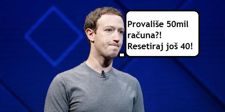 Sigurnosna rupa na Facebooku 50mil računa - Naslovna