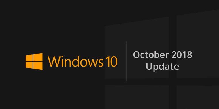 Windows 10 October Update što je novo - Naslovna