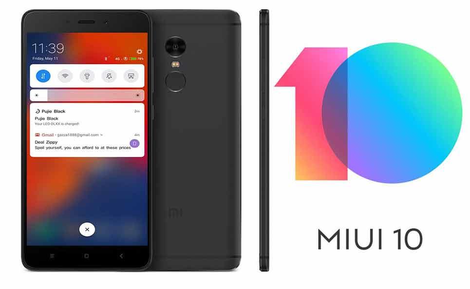 Xiaomi Redmi 4 4A 5 MIUI 10 nadogradnja - Naslovna
