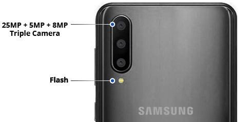 Samsung Galaxy A50 dizajn specifikacije - Naslovna