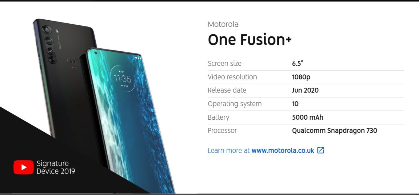 Motorola One Fusion + izlazak