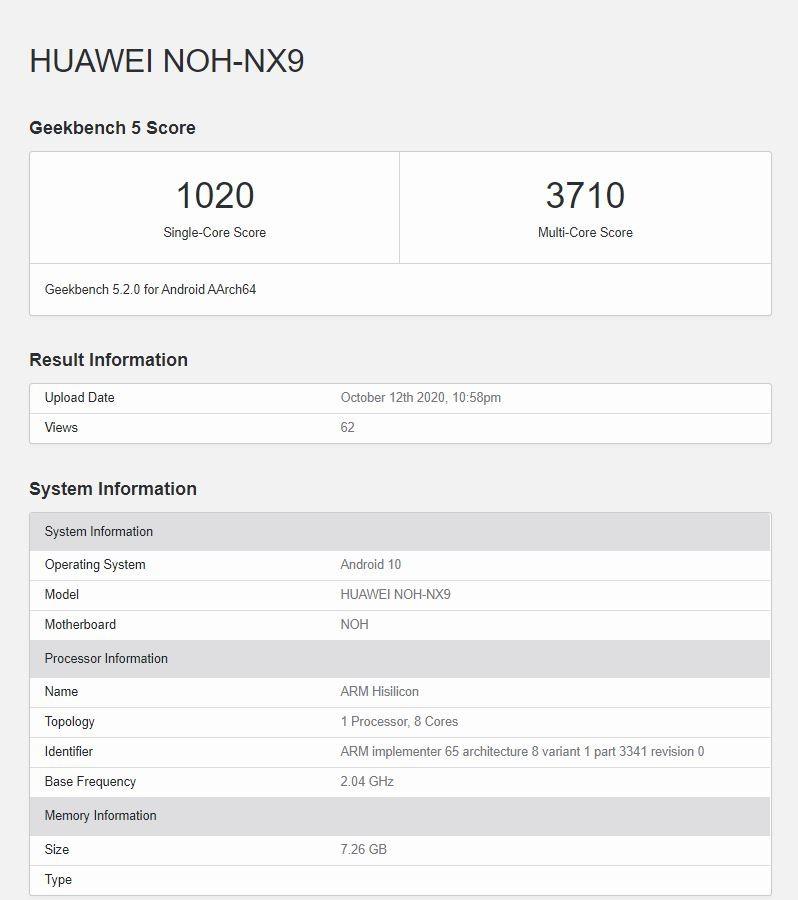 Huawei Kirin 9000 snaga detalji
