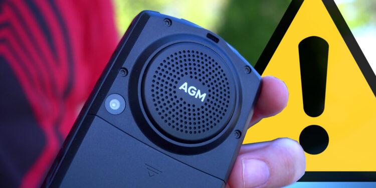 AGM M7 recenzija telefon s upozorenjem